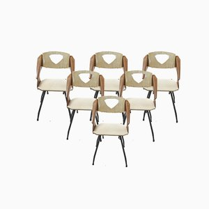 Mid-Century Dining Chairs by Carlo Ratti for Industrial Legni Curva, Set of 6