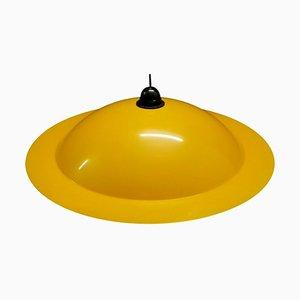 Lampada da soffitto Lampiatta gialla di De Pas, Urbino e Lomazzi per Stilnovo, anni '70