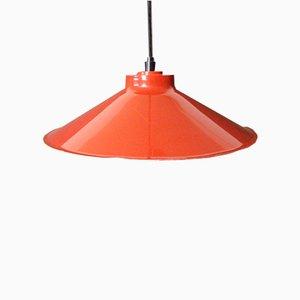 Danish Shoemaker''s Pendant Lamp in Red, 1960s