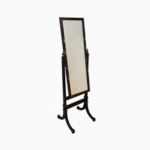 Chinese Lacquered Full Length Free Standing Mirror, 1920s