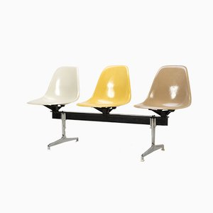 Tandem Seating Bench with Table by Charles and Ray Eames for Herman Miller