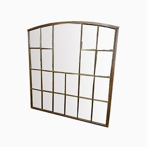 Großes Industrielles Gusseisen Fenster mit Spiegel, 1930er