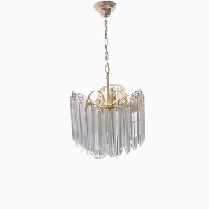 Murano Glass Ceiling Lamp from Venini, 1970s