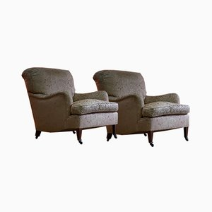 Bridgewater Armchairs from Howard and Sons, 1890s, Set of 2