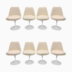 Sedie da pranzo Tulip di Eero Saarinen per Knoll Inc. / Knoll International, anni '70, set di 8