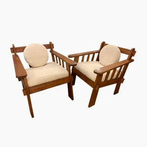 Arts & Crafts Lounge Chairs, 1920s, Set of 2