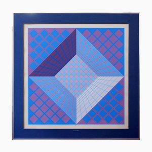 Victor Vasarely, Zweifarbige Siebdrucke, Lithographie, 1970er