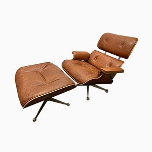 Lounge Chair & Ottoman by Charles & Ray Eames, 1950s, Set of 2