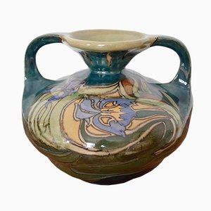 Vase Art Nouveau en Céramique de Plateelbakkerik Zuid Holland