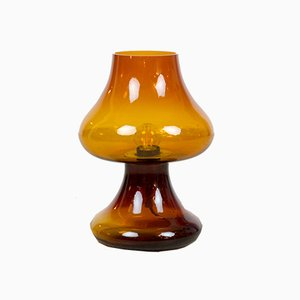 Vintage Honey Colored Glass Table Lamp from IDEA Design