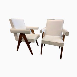 Senate Lounge Chairs by Le Corbusier and Pierre Jeanneret, 1950s, Set of 2