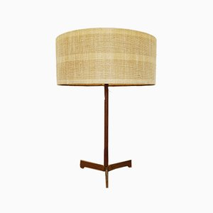 Teak and Brass Table Lamp by J.T. Kalmar, 1950s