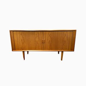 Mid-Century Teak Sideboard with Sliding Doors by Svend Aage Larsen for Faarup furniture factory, Denmark, 1960