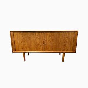 Mid-Century Teak Sideboard with Sliding Doors by Svend Aage Larsen for Faarup furniture factory, Denmark, 1960