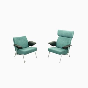 Mid-Century Lounge Chairs by Theo Ruth for Wagemans & van Tuinen, Set of 2