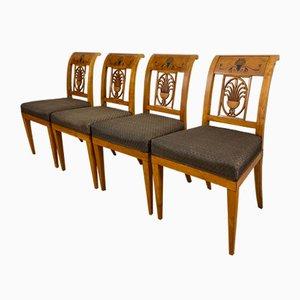 Biedermeier Esszimmerstühle, 4er Set