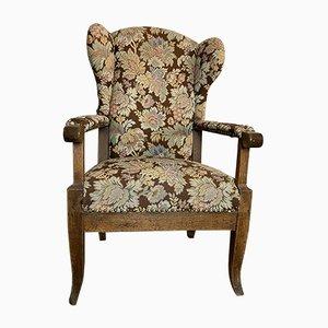 Biedermeier Stuhl mit verstellbarer Rückenlehne