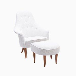 Mid-Century Stora Adam Lounge Chair & Ottoman by Kerstin Hörlin-Holmquist, Set of 2