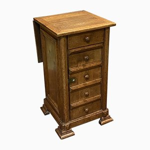 Louis Philippe Oak Bedside Table