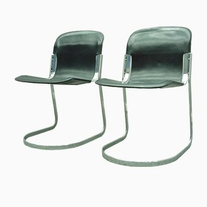 Italian Dining Chairs by Willy Rizzo, 1970s, Set of 2