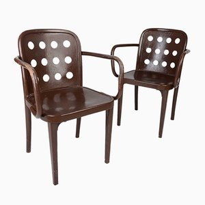 Armchairs by Josef Hoffman and Oswald Haerdtl for Thonet, 1930s, Set of 2