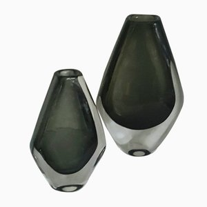 Vases by Nils Landberg for Orrefors, 1950s, Set of 2