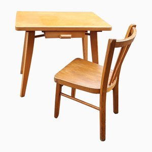 Desk and Chair Set from Baumann, 1960s