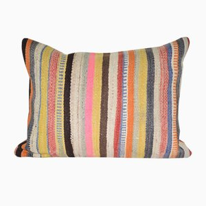 Vintage Striped Turkish Kilim Cushion Cover
