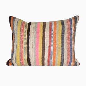 Vintage Striped Turkish Kilim Cushion Cover