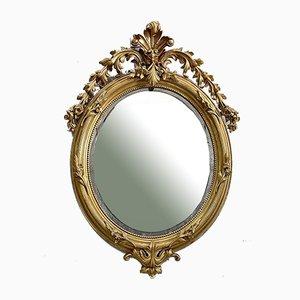 Napoleon III Golden Oval Mirror