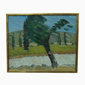 Sven Erik Marked, Schwedische Gemälde, Öl auf Leinwand, 1960er