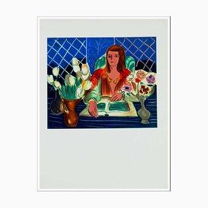 Henri Matisse (d'après) , Femme Aux Fleurs, 1954 , lithograph