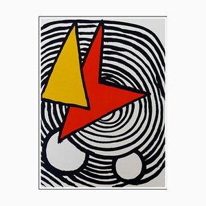 Alexander Calder (nachher), Dreieck und Viereck, 1973, Originale Lithographie