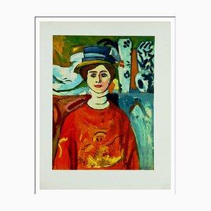 Henri Matisse (d'après) , La Fille Au Pull Rouge, 1954 , lithograph