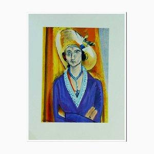 Henri Matisse (after) , Femme Au Chapeau, 1954 , Lithograph