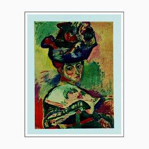 Henri Matisse (d'après) , Femme Au Chapeau, 1954 , lithograph