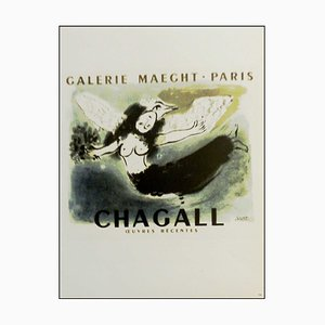 Marc Chagall (after) , Galerie Maeght Paris, Recent Works, 1959 , Lithograph