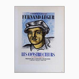 Fernand Leger (after) , Les Constructeurs Et Sculptures Polychromes, 1959 , Lithograph