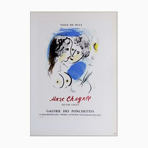 Marc Chagall (nachher), Stadt Nizza, 1959, Lithographie