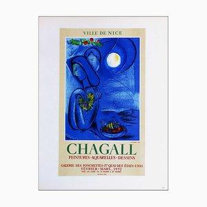 Marc Chagall (d'après) , Ville De Nice Galerie Des Ponchettes, 1959 , lithograph