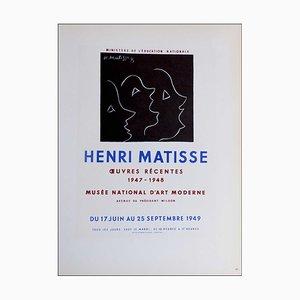 Henri Matisse (after) , Oeuvres Récentes Musée National D'art Moderne, 1959 , Lithograph
