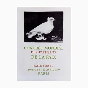 Pablo Picasso (nachher), Congrès Mondial Des Partisans De La Paix, 1959, Lithografie Poster