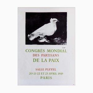 Poster Lithographique de Pablo Picasso (après), Congrès Mondial Des Partisans De La Paix, 1959