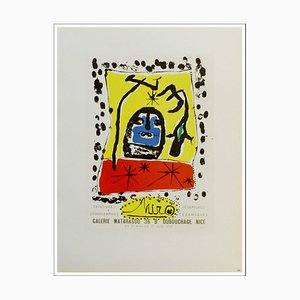 Joan Miro (after) , Galerie Matarosso Nice, 1959 , Lithograph