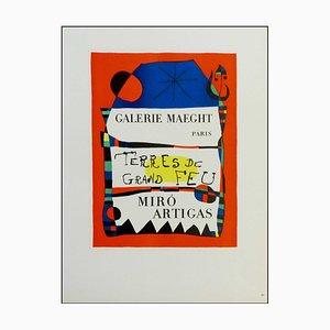 Joan Miro (after) , Galerie Maeght Terres De Feu Miro Artigas, 1959 , Lithograph