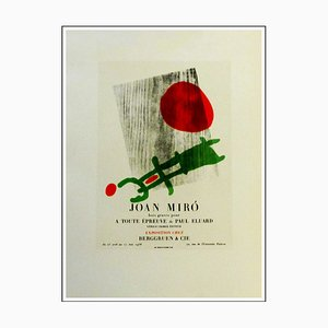 Joan Miro (after), Exposition Chez Berggruen & Cie, 1959, Lithographie