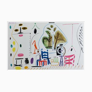 Lithographie de Pablo Picasso (après), Cahier De La Californie Ii, 1959