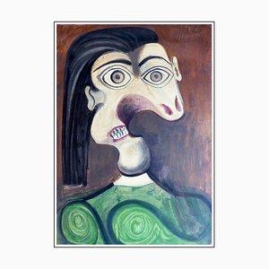 Pablo Picasso (nachher), Porträt Dora Maar I, 1954, Lithographie