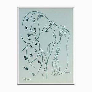 Henri Matisse (d'après) , Femme De Profil Ii , lithograph