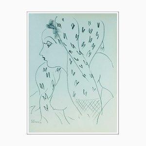 Henri Matisse (d'après) , Femme De Profil , lithograph